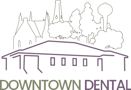 Downtown dental, logo