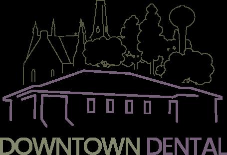 Downtown dental, logo